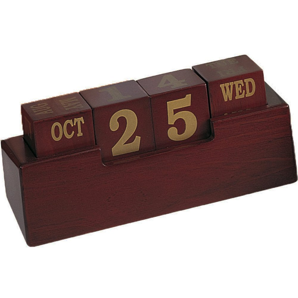 Uncategorized Wooden Block Calendar amazon com wooden perpetual calendar home kitchen