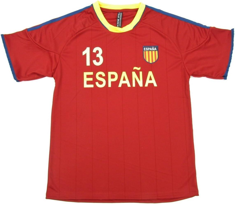 Copa Mundial de la FIFA Espana España fútbol JERSEY de rayas marrón # 13: Amazon.es: Libros
