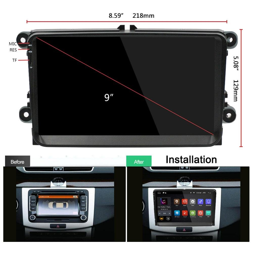 Amazon.com: Loughbless 9in TFT 1Din WiFi BT Android Car ...