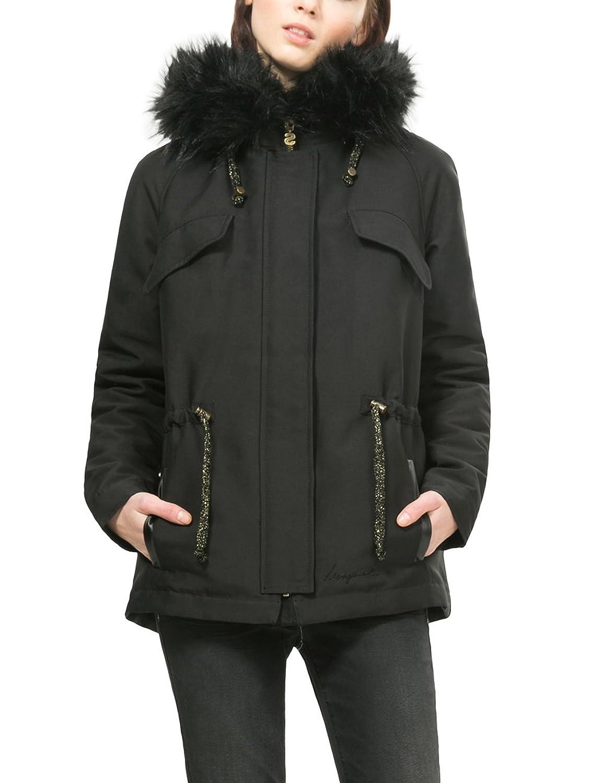 Desigual Damen Mantel Abrig_Black 4