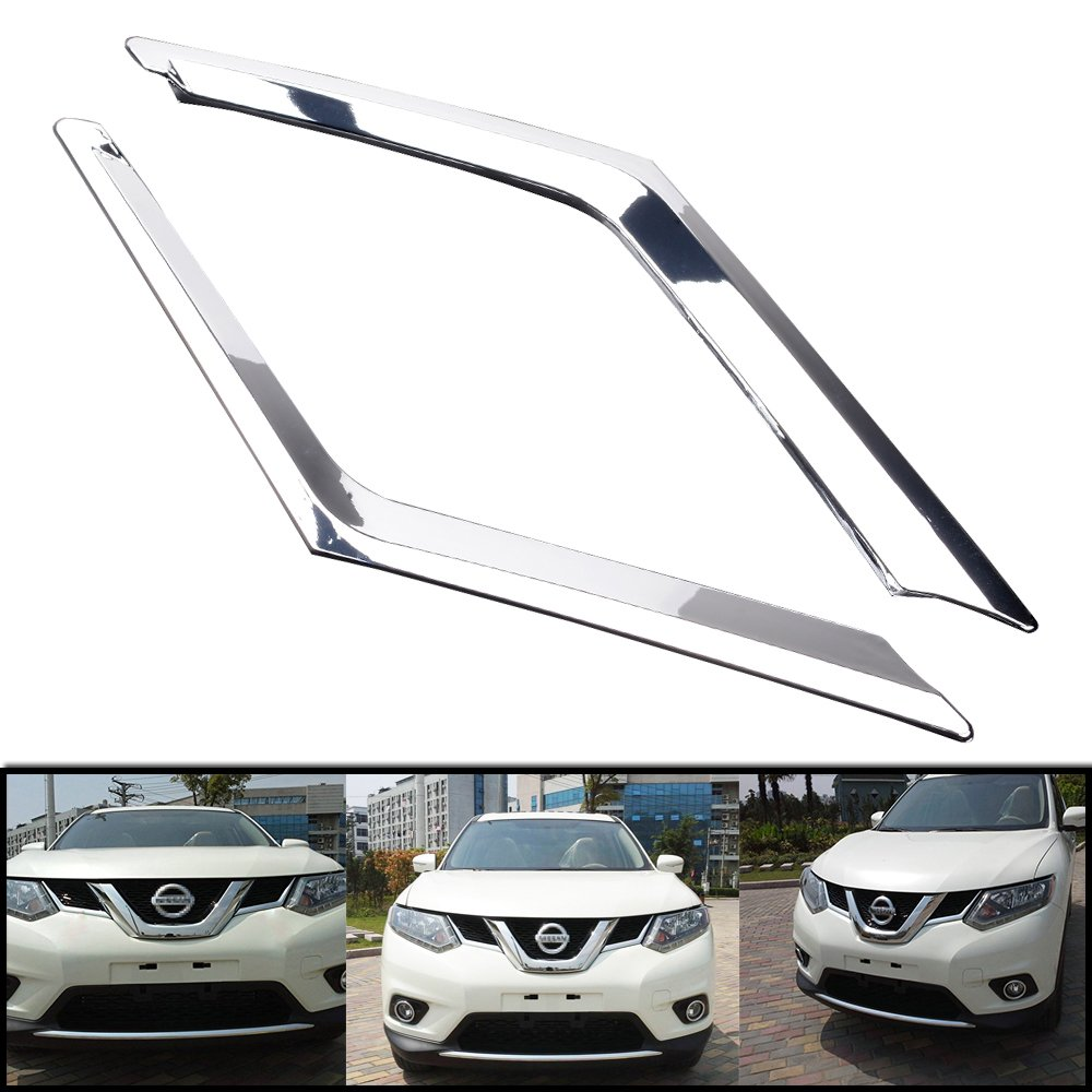 Astra Depot Chrome Front Grill Grille Cover Trims Fit For Nissan Rogue X-Trail 2014 2015 2016