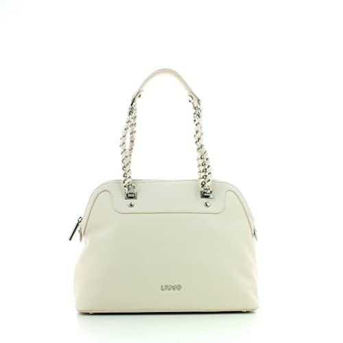 BORSA DONNA LIU-JO SHOPPING MOD. M ANNA IN SAFFIANO TRUE CHAMPAGNE  BS17LJ04  Amazon.it  Scarpe e borse 8e5b159ed0b