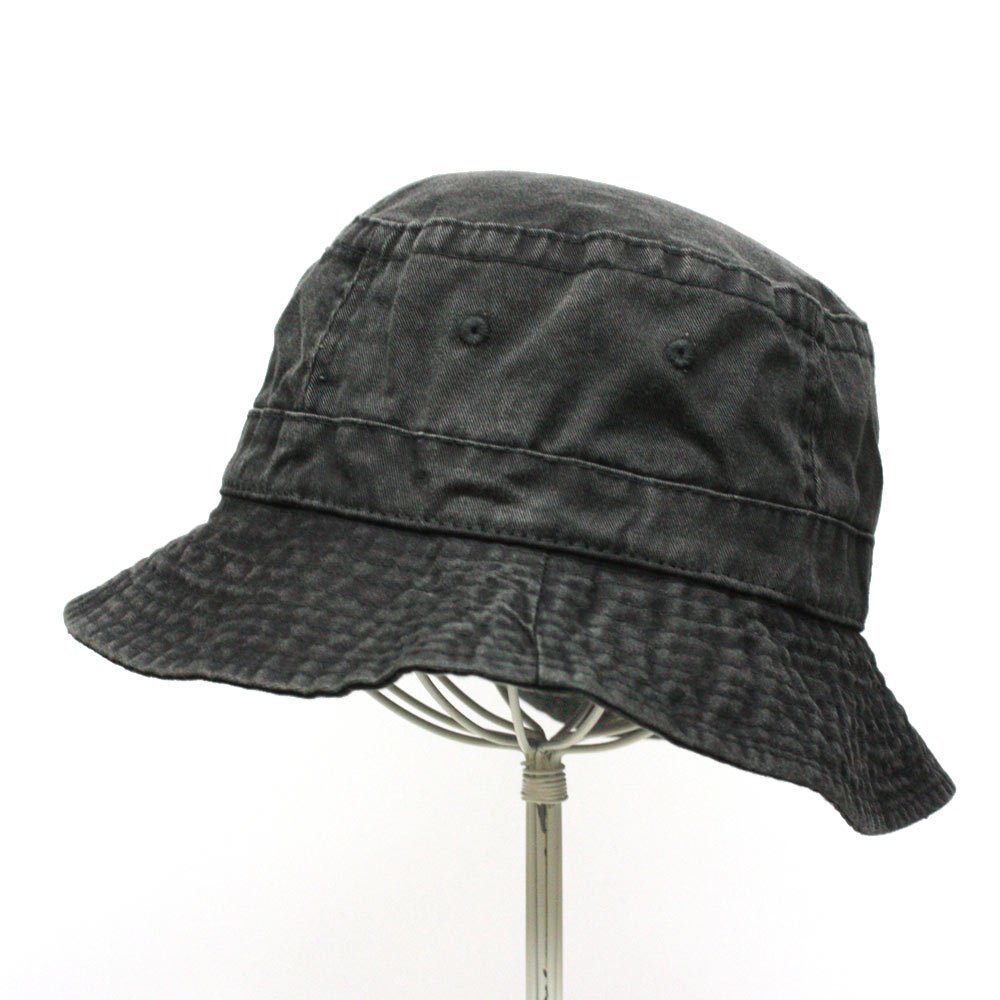 b4b2c7b60c3 Washed Pigment Dyed Cotton Twill Bucket Hats (Black) at Amazon Men s  Clothing store