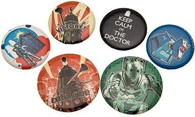 DOCTOR WHO - Pack de chapas (Talla Única) (Multicolor): Amazon.es: Ropa y accesorios