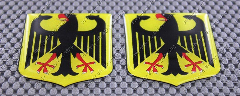Wappenschild Flagge 3D Domed Aufkleber Set Deutschland