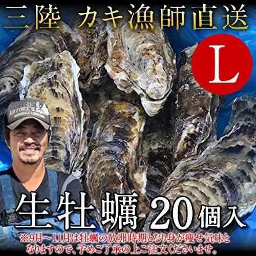 生牡蠣 殻付き 生食用 牡蠣 特大L 20個 生ガキ 大粒カキ 三陸宮城県産 雄勝湾(おがつ湾) 漁師直送 お取り寄せ 新鮮生がき