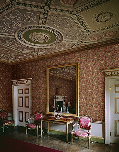 Mayflower Wallpaper Morissey (Red Gold) Green Bronze Victorian Arts Crafts Classic by Mayflower Wallpaper