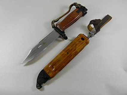 Amazon com : Bayonet AK47 AK74 Bulgarian Army Red Bakelite