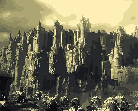 Dark Souls DIY Pintura al óleo por números sobre Lienzo Pintado a ...