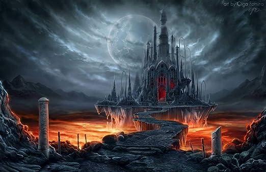 Puzzle 1000 Piezas Castillo De Terror Bajo La Luna. Decoración Del ...