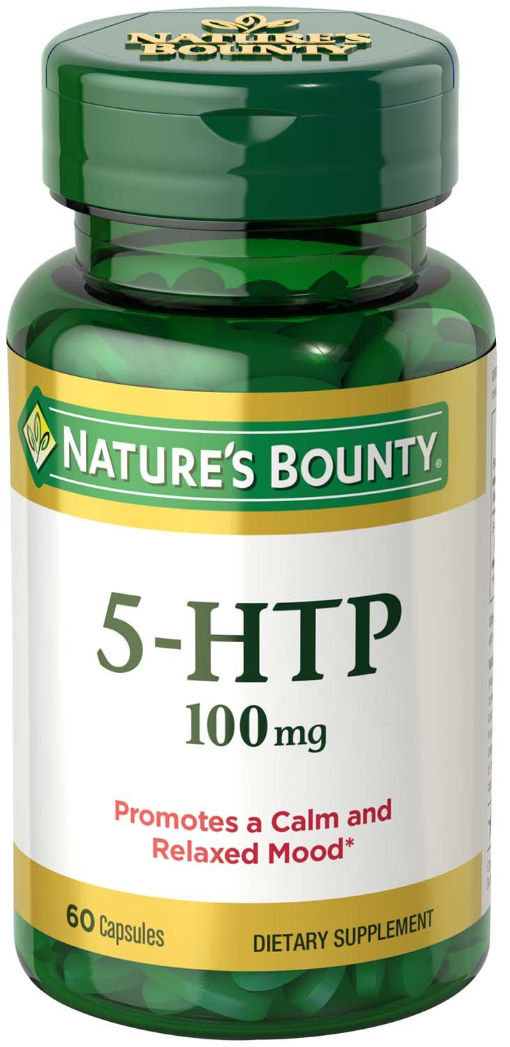 Nature's Bounty 5-HTP 100 mg Capsules 60 Capsules