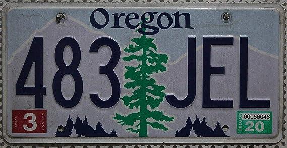 Usa Auswahl Von Fahrzeugschildern Oregon Nummernschild Original Usa Auto Kennzeichen Us License Plate Metall Schild Mit Baum Motiv Auto