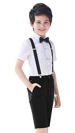 GEMVIE Traje Formal para niños, 4 Piezas, Camiseta de Manga ...