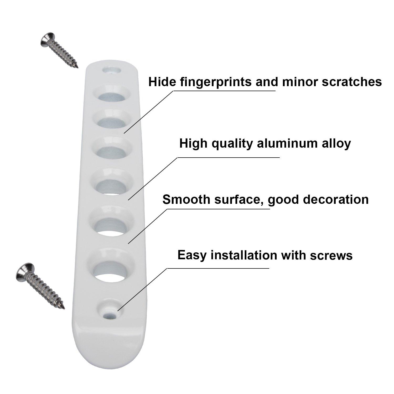Side Door Grab Handle Inserts Cover Trim For 2007-2018 Jeep Wrangler JK /& Unlimited 4 Door 5pcs//set Sunluway . Aluminum Door Handle Knobs Cover White