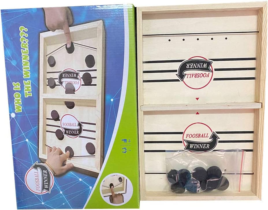 fancheng Juego de Mesa Slingpuck r/ápido Juego de Mesa Sling Puck de Madera Juegos de Mesa port/átiles de Mesa m/últiples para Interiores para ni/ños y familias