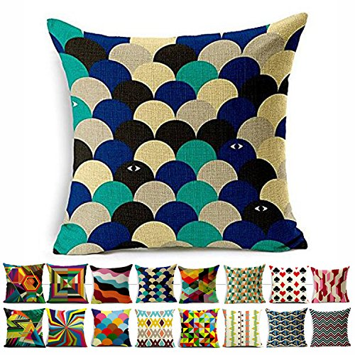 SUSYBAO Luxury Quality Cotton Linen Square Decorative Throw