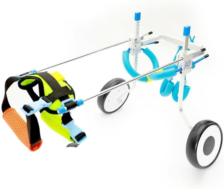 Rungao - Silla de ruedas ajustable para perros pequeños con discapacidades, 2 ruedas (XS)