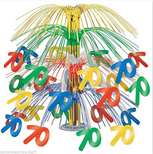 70th Birthday Cascade Centerpiece Table Decoration 50365-MC