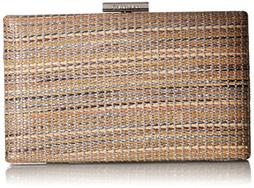 Natural Straw Straw Clutch Klein Woven Calvin Novelty Box Calvin Klein URP8qHX