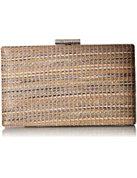 Novelty Woven Straw Box Clutch