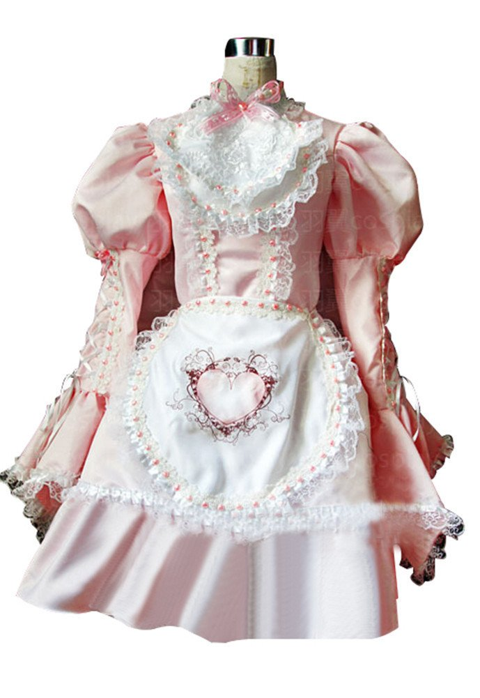Mtxc Women's Sweet Love Lolita Cosplay Costume Gothic Size X-Large Pink