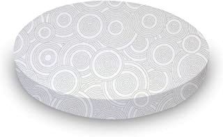 product image for SheetWorld Fitted Oval Crib Sheet (Stokke Sleepi) - Grey Multi Circles - Made In USA