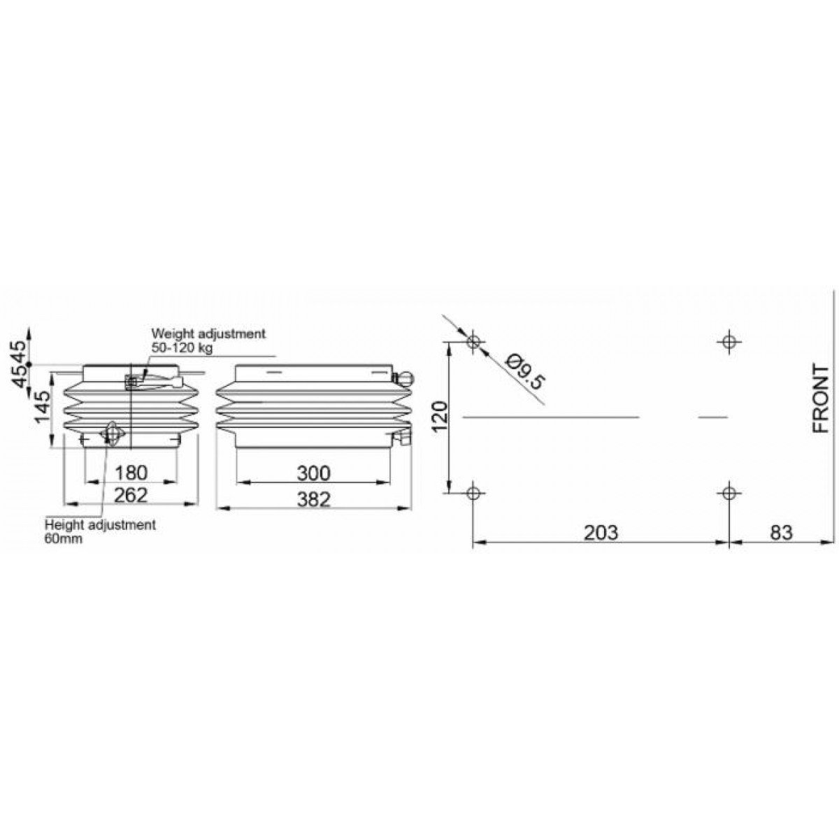 sourcing map Aste M6 x 80mm completamente filettate barra Hardware in acciaio inox 304 20pz.