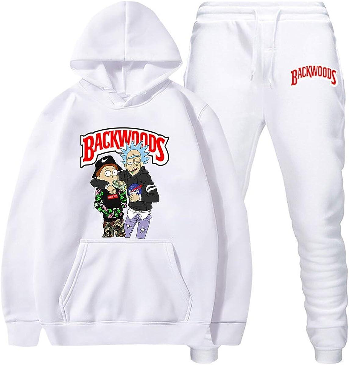 DISINIBITA Backwoods Hoodies and Pants Fashion Causal Sport Suit for Men Women