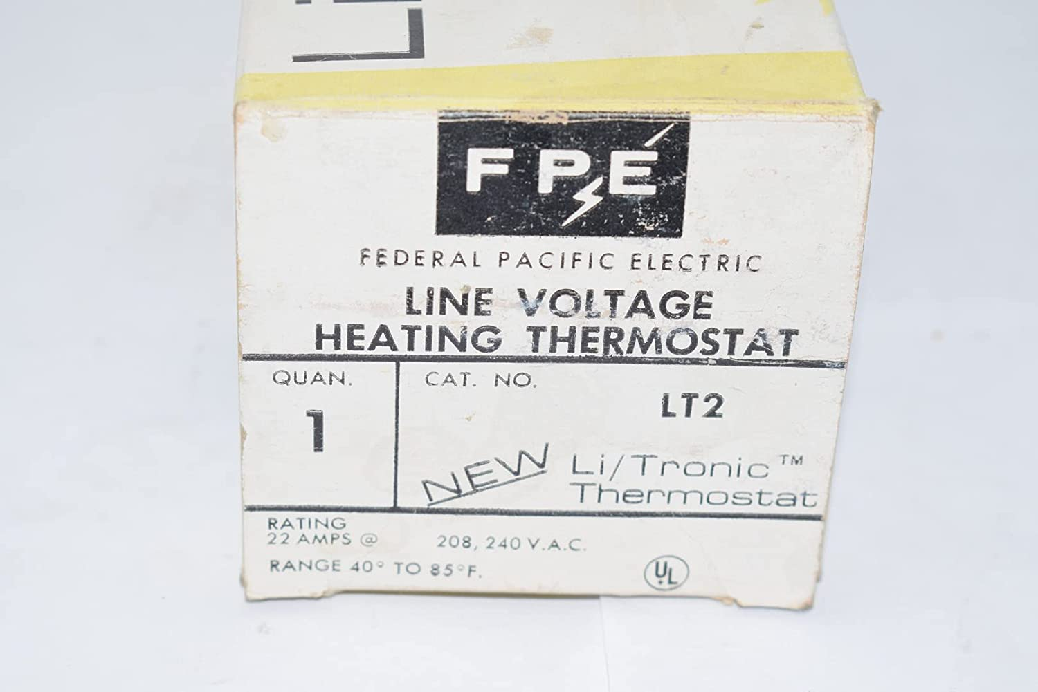 1 Pole Line Voltage Thermostat FEDERAL PACIFIC New FPE USA1T Electric Heater