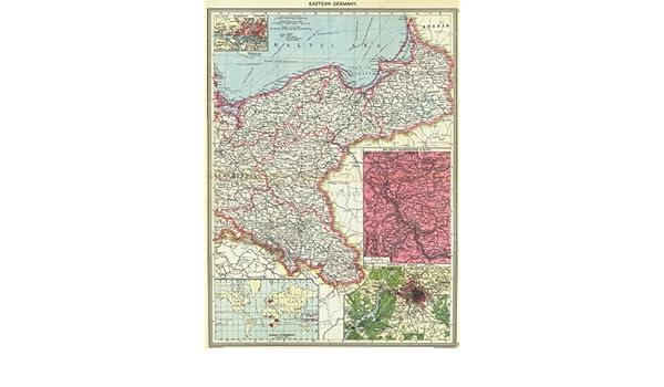 Hamburgo; El Rin; BERLIN; Colonias Old Map - diseño envejecido Vintage - 1907 Mapas de Alemania: Amazon.es: Hogar