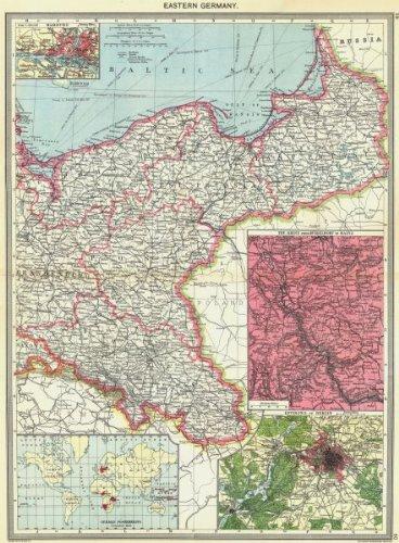 Hamburgo; El Rin; BERLIN; Colonias Old Map – diseño envejecido