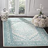 Cheap Safavieh Adirondack Collection ADR108G Ivory and Teal Oriental Vintage Medallion Area Rug (5'1 x 7'6)
