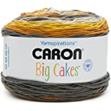 Caron Big Cakes Self Striping Yarn 603 yd/551 m 10.5oz/300 g (Honey Glaze)