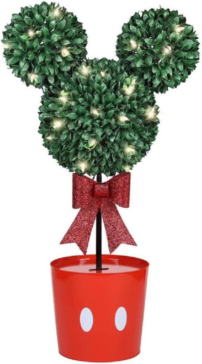 Disney Mickey Mouse LED Topiary Tree Christmas Decoration White