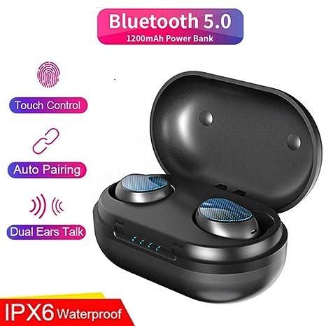 Z&HA Audífonos Inalámbricos Bluetooth 5.0 Auriculares Bluetooth Deportivos Estéreo Reduce el Ruido de Micrófono Incorporado Soporta