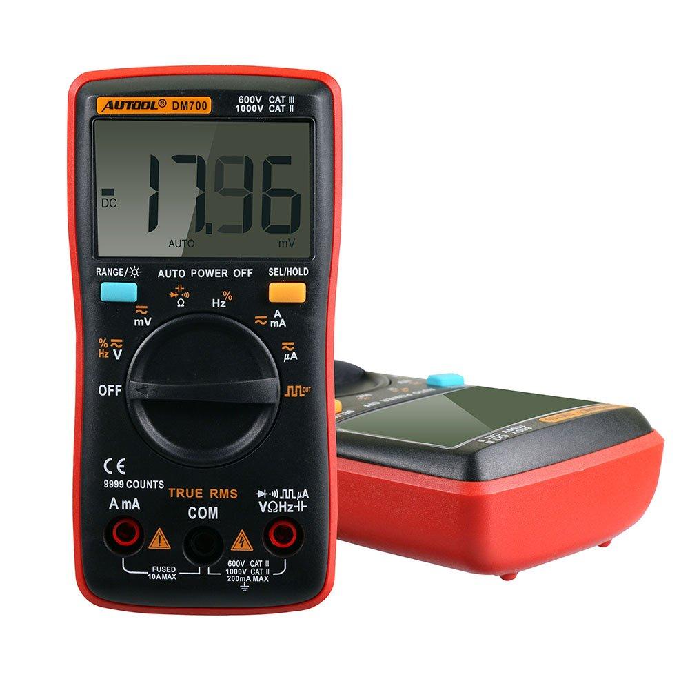 Autool DM700 MAX Display 9999 Counts Portable Auto Ranging Digital Multimeter