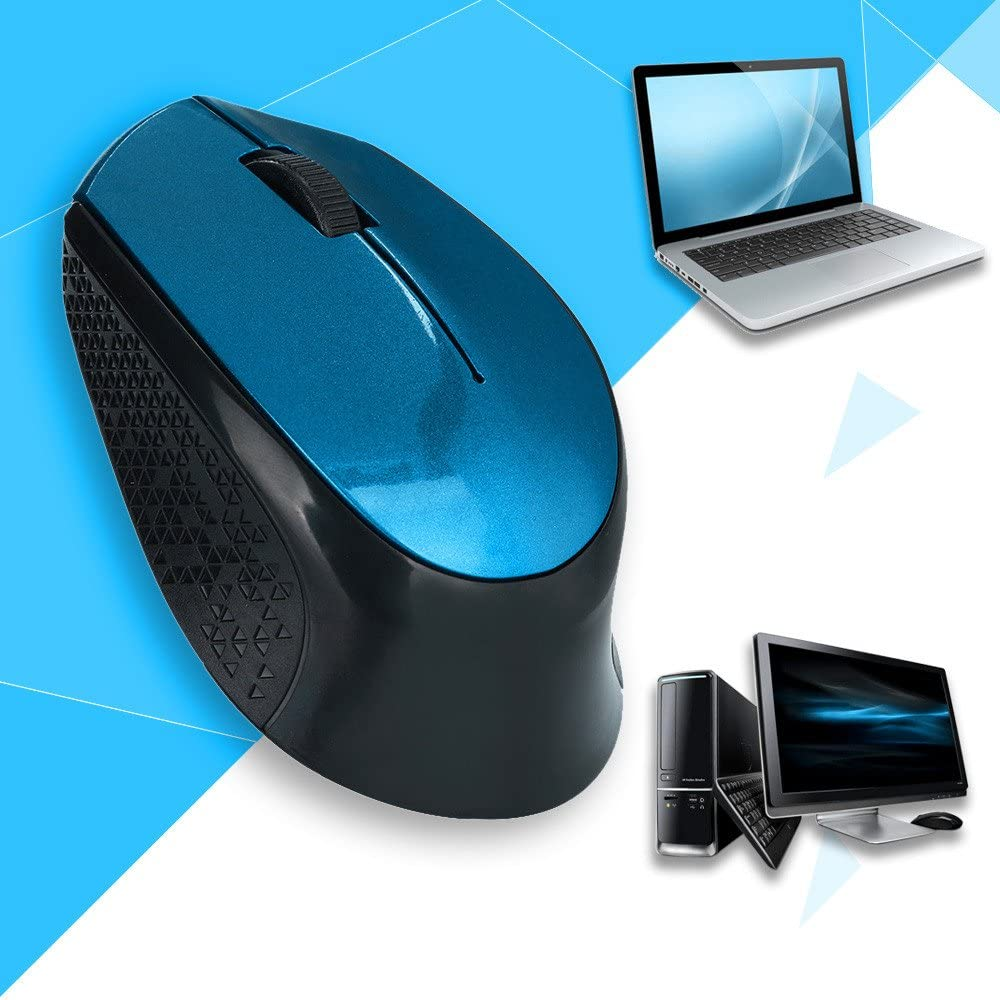 USB 2.0 Receiver for Laptop OVERMAL 2.4GHz Silent Design Wireless Optical Mouse//Mice
