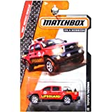 Matchbox 2014 MBX Heroic Rescue Toyota Tacoma Lifeguard Truck Red