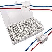 Senven® 68Pcs CH2 Conector Cable Resorte, Bloque de Terminal Rápido de Resorte 10A, Iluminación, fuente de Alimentación…