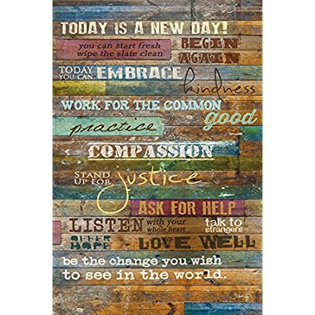 Inspirational Quotes Wall Art Today Is A New Day By Marla Rae 12 X