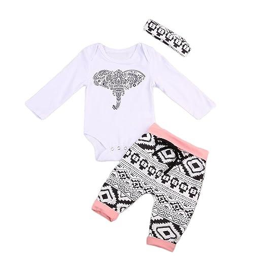 Amazon Com Mornbaby 3pcs Set Newborn Baby Girl Boy Long Sleeve
