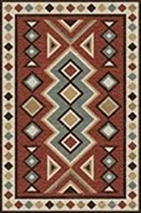 Rizzy Home Mesa Collection Wool Area Rug, 10' x 13', Red/Multi Southwest/Tribal