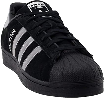adidas superstar all black suede