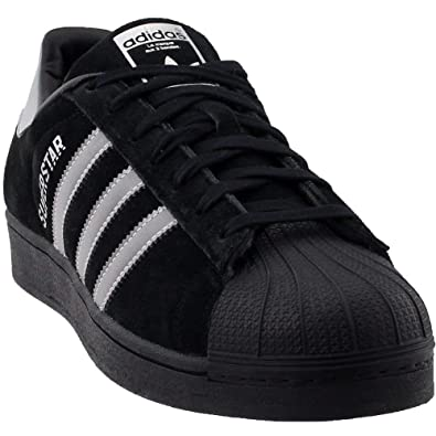 finest selection 23075 3f39a adidas Men's Superstar Suede Sneaker,Black,7.5