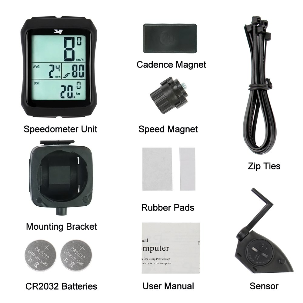 007KK Bike Speedometer Waterproof Wireless Bicycle Bike Computer and Odometer with Cadence Sensor for Outdoor Cycling and Fitness by 007KK (Image #7)