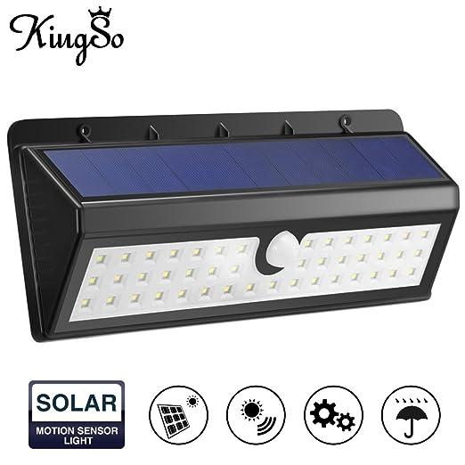 10 opinioni per KINGSO Luci Solari Lampada Wireless ad Energia Solare da Esterno con Sensore di