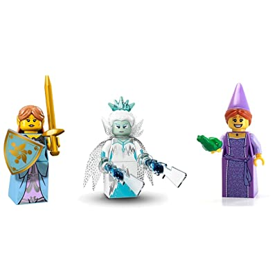LEGO Ice Queen, Fairy Princess, and Elf Girl Minifigures Magical Figures: Toys & Games