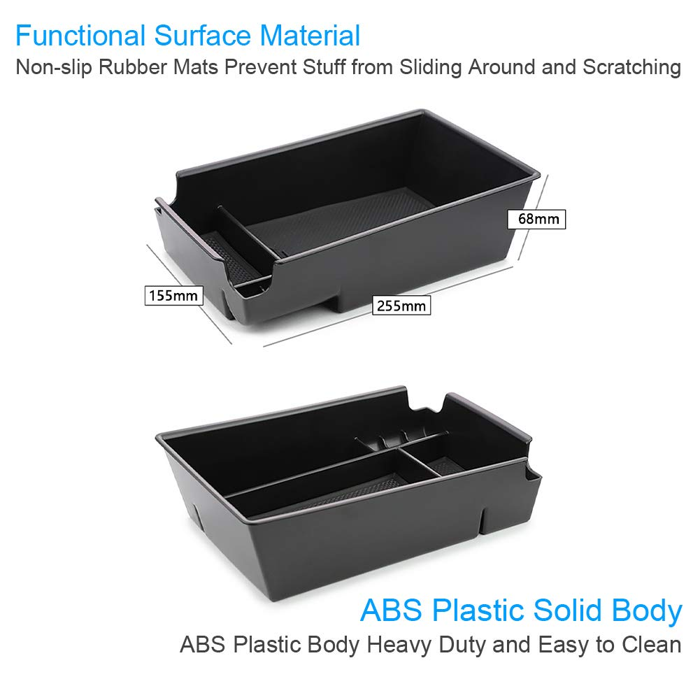 White YEE PIN Center Console Organizer Tray Armrest Box Secondary Storage Insert ABS Materials Tray Compatible with Sonata 10th Generation DN8 2020