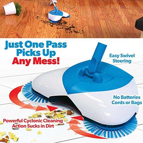 Glorrt Spin Broom Home Use Magic Manual Telescopic Floor Dust Sweeper (Sweeper Magic)