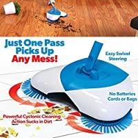 Glorrt Spin Broom Home Use Magic Manual Telescopic Floor Dust Sweeper